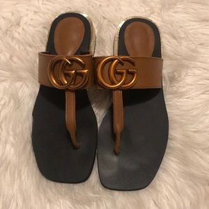 Fashion Flats with Bronze GG